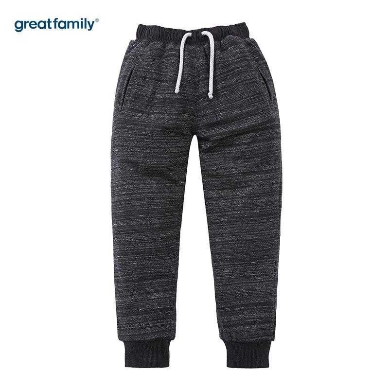 歌瑞家(Greatfamily)A类男童灰色针织裤/卫裤