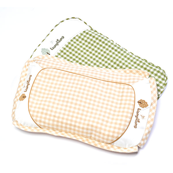 良良--婴幼儿护型保健枕(0-3岁加长)米咖(混色-混码)