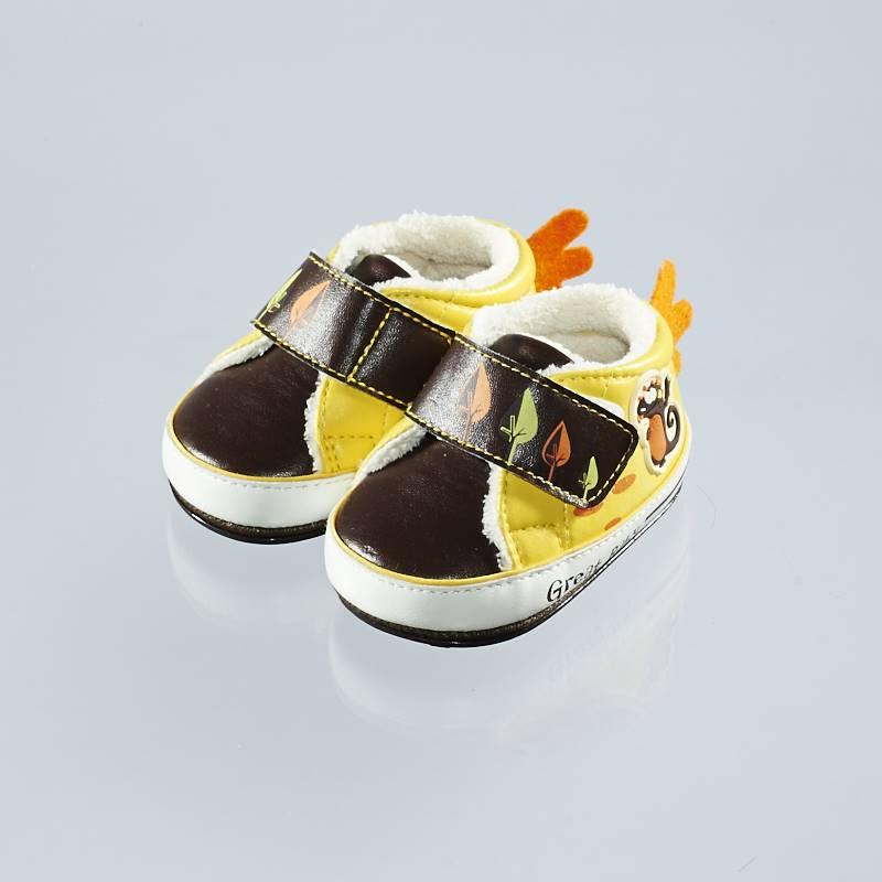 歌瑞贝儿(新)--小怪兽保暖婴儿鞋GB144-007SH咖色11CM