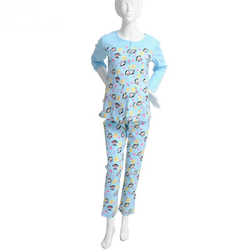 歌瑞家淘气猴哺乳家居服套装蓝