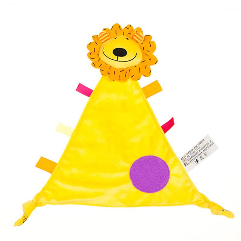 字母超柔顺滑宝宝安抚巾狮子毛绒玩具
