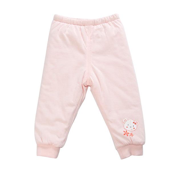 歌瑞贝儿(新)--夹棉小熊乐园可拆密档长裤/片印GB134-828KQ粉73cm