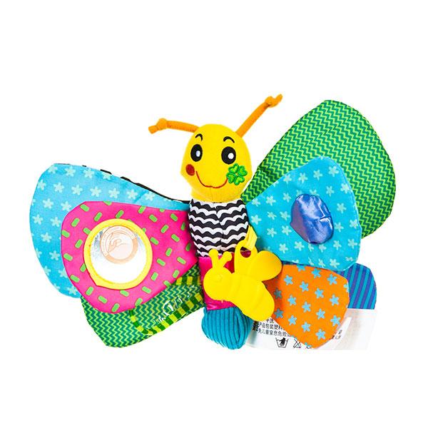 字母卡通挂件带响纸蝴蝶毛绒玩具