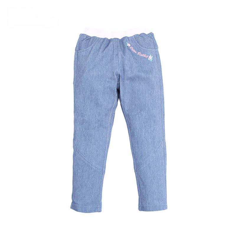 歌瑞家(比得兔)A类女童牛仔色针织长裤