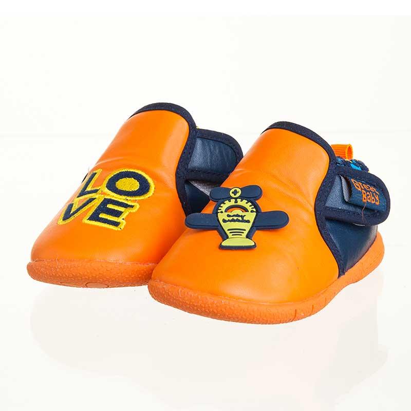 歌瑞贝儿(新)--时尚AB鞋(男婴儿鞋)GB143-011SH橙13.5CM