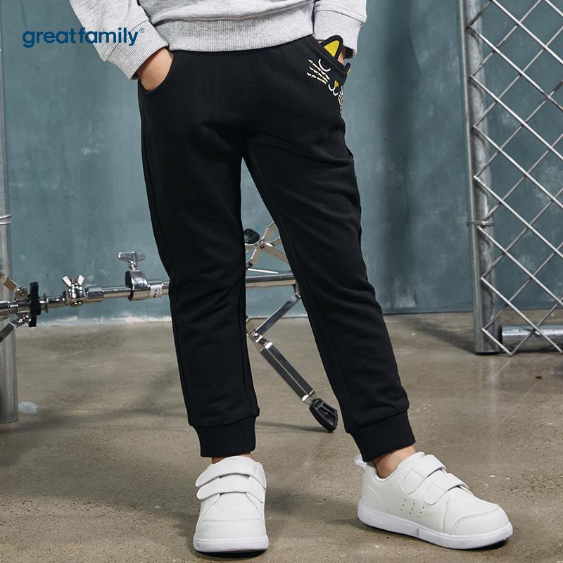 歌瑞家(Greatfamily)A类酷帅宝贝女童黑色针织长裤
