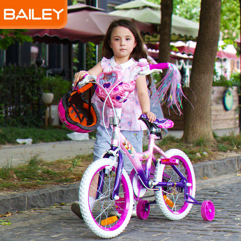 贝乐BAILEY-迪士尼公主系列音乐盒儿童自行车12寸