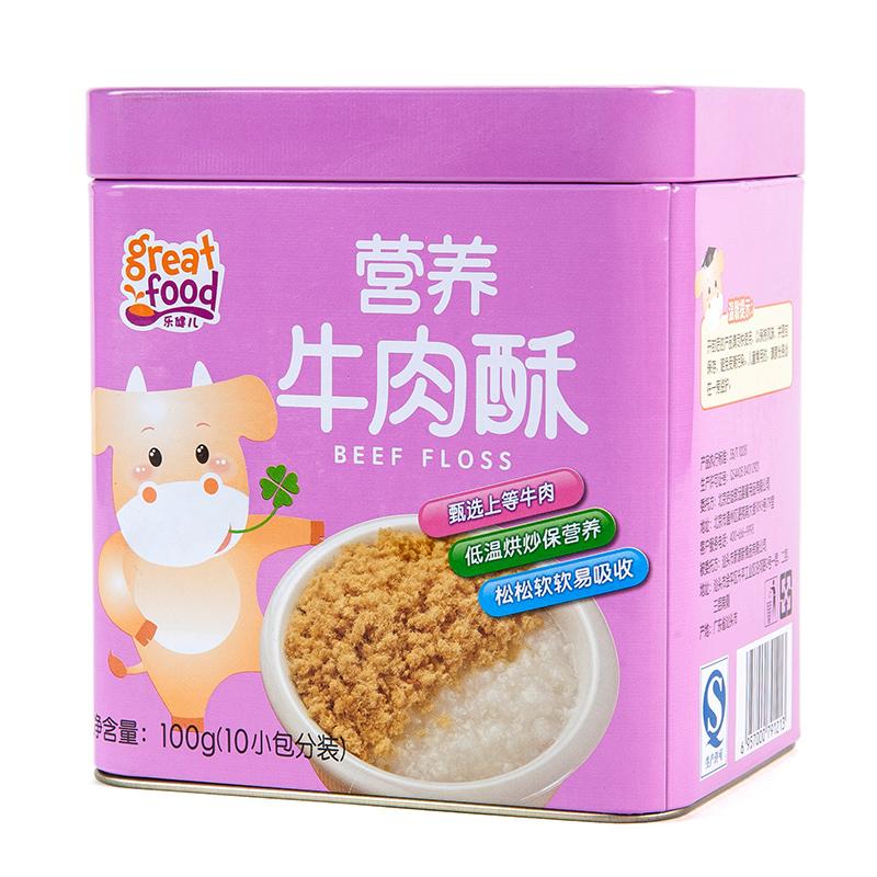 乐健儿GreatFood营养牛肉酥(原味)100g6月以上