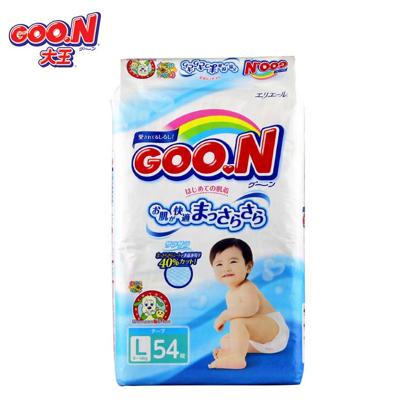 Goo.n大王婴幼儿用纸尿裤L54片包