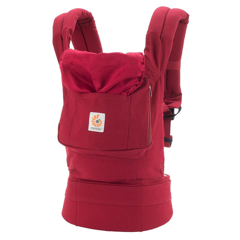 美国Ergobaby基本款婴儿背带(红色)明星同款 Ergobaby Original 3 Position Baby Carrier Galaxy Red