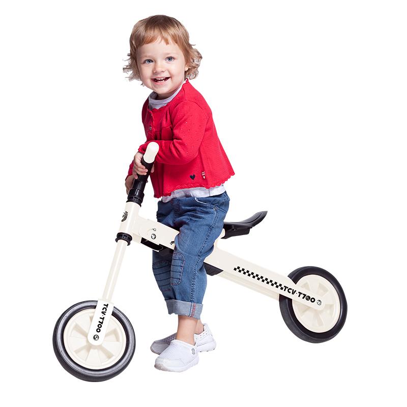 【乐海淘】台湾TCV折叠式儿童平衡滑步车T700 白 海外直邮
