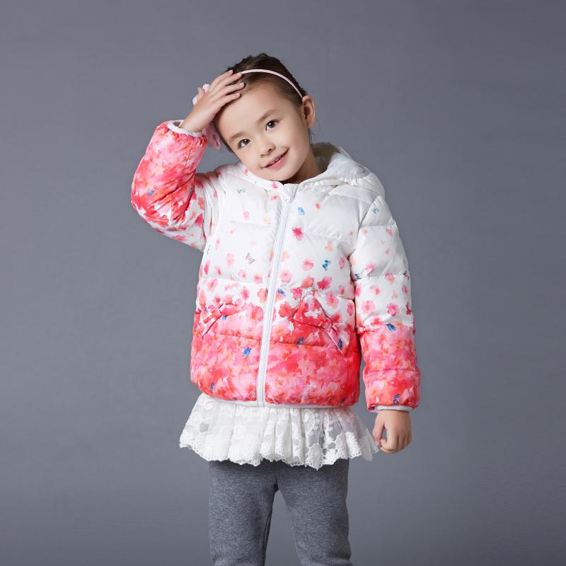 歌瑞家(可爱精灵)女童短款羽绒服白