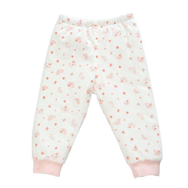 歌瑞贝儿(新)--夹棉小熊乐园可拆密档长裤/匹印GB134-826KQ粉73cm