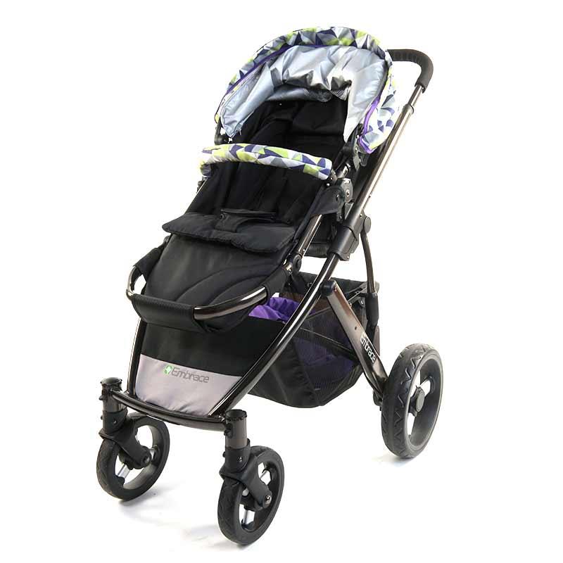 宜柏高景观全铝合金豪华双向婴儿推车 4980 草绿色