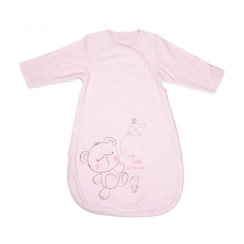 歌瑞贝儿天鹅绒长袖睡袋85*40cm粉色
