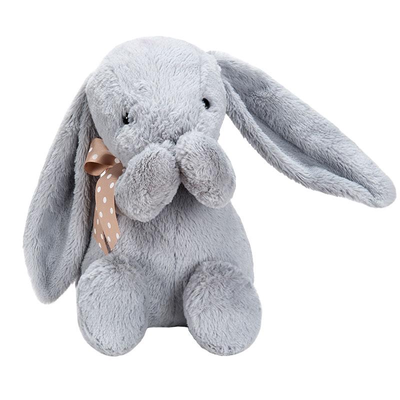 字母毛绒玩具折耳兔灰