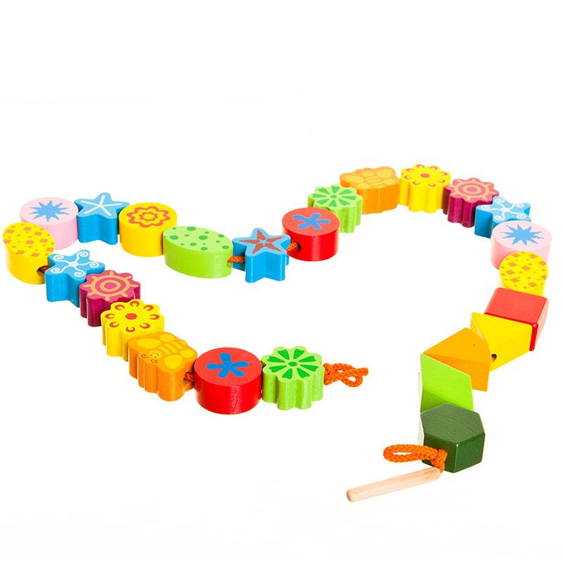 字母森林串珠 木质益智玩具