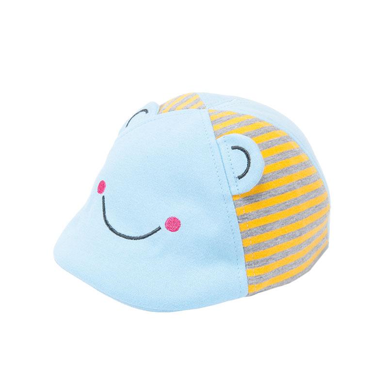 歌瑞凯儿男童青蛙鸭舌帽GB161-025A蓝44cm顶