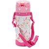 幼蓓Ubee婴幼儿保温吸管水壶400ml粉色304不锈钢内胆真空双层保温防喷水设计