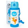 幼蓓Ubee婴幼儿保温吸管水壶400ml蓝色食品级304不锈钢内胆真空双层保温防喷水设计