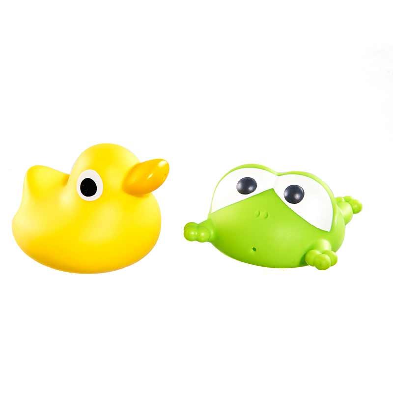 亲亲我青蛙鸭子喷水玩具