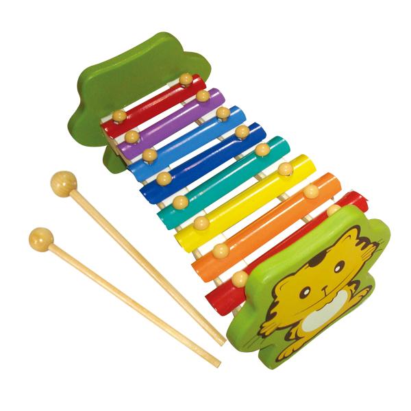 方圆小老虎手敲琴木制八音阶玩具儿童益智启蒙音乐