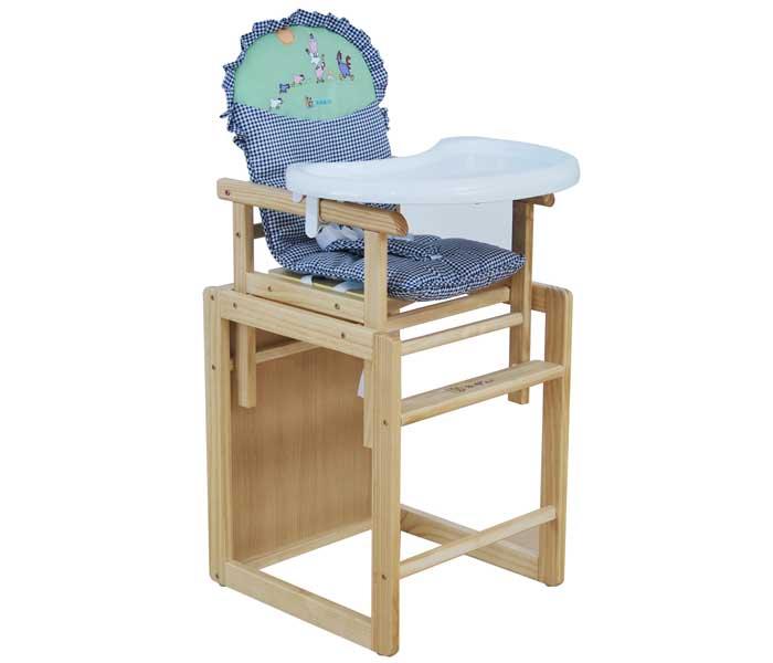 乐奇组合式木制儿童餐椅6个月至6岁超大塑料餐盘可当